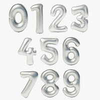 Balloons Set Digits (0-9)