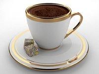 3D turkish coffee model