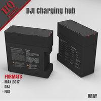 dji charging hub 3d model
