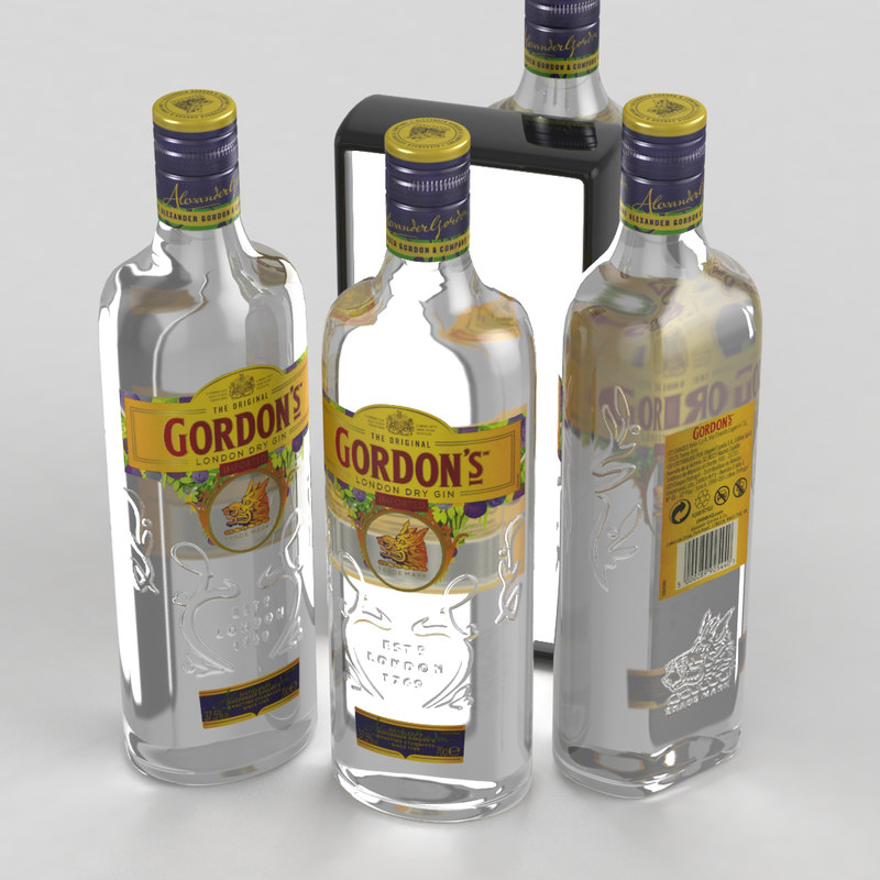 3D gin london alcohol model