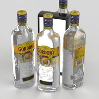 3D gin london alcohol model