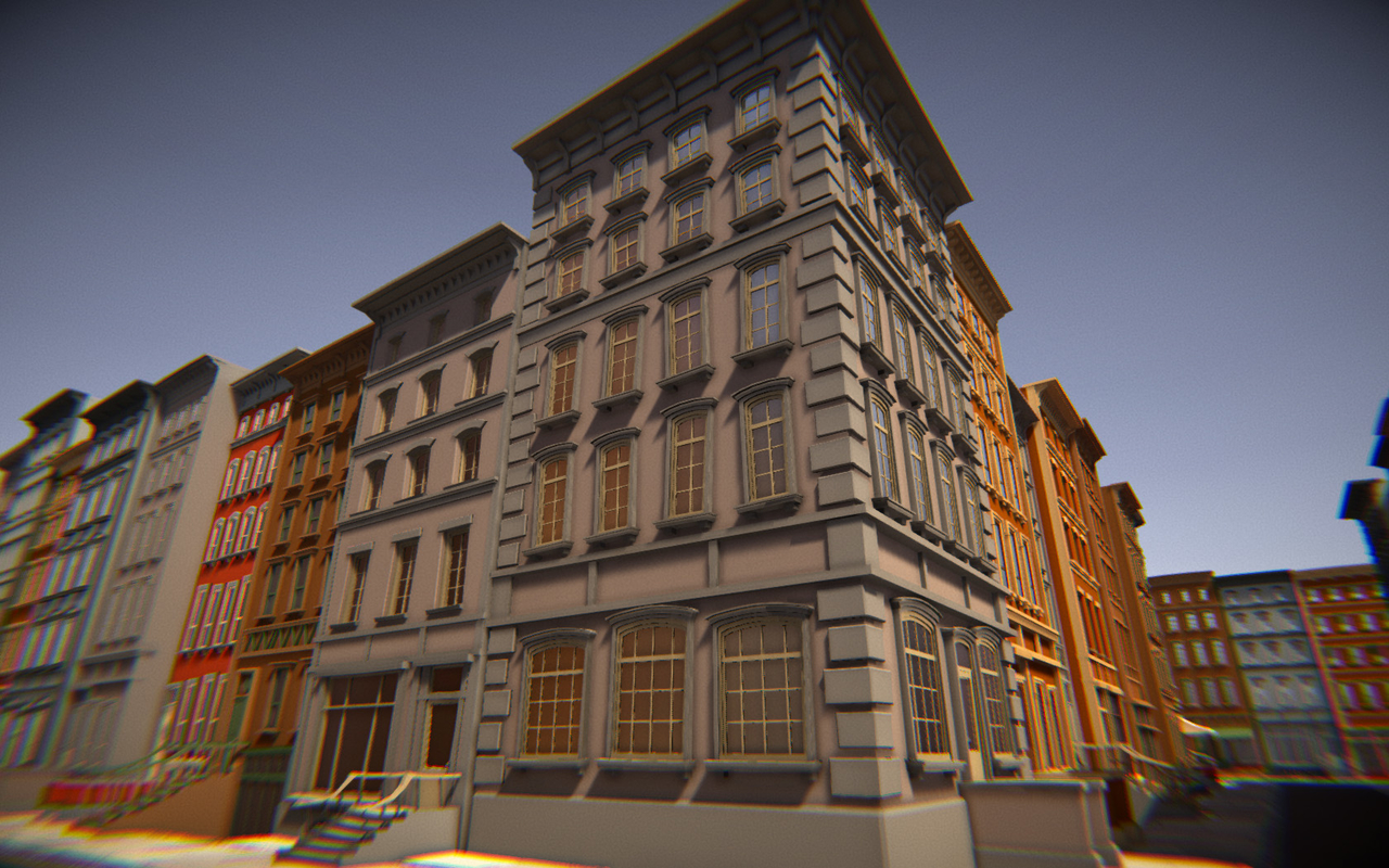 3D houses buildings model