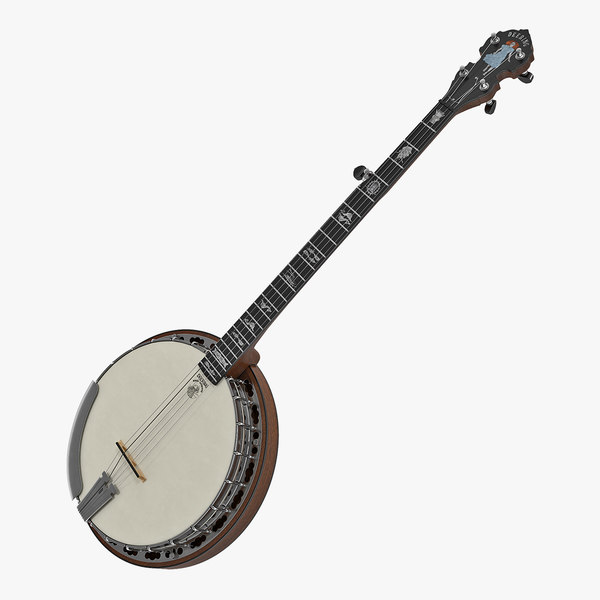 3D model banjo string julia belle