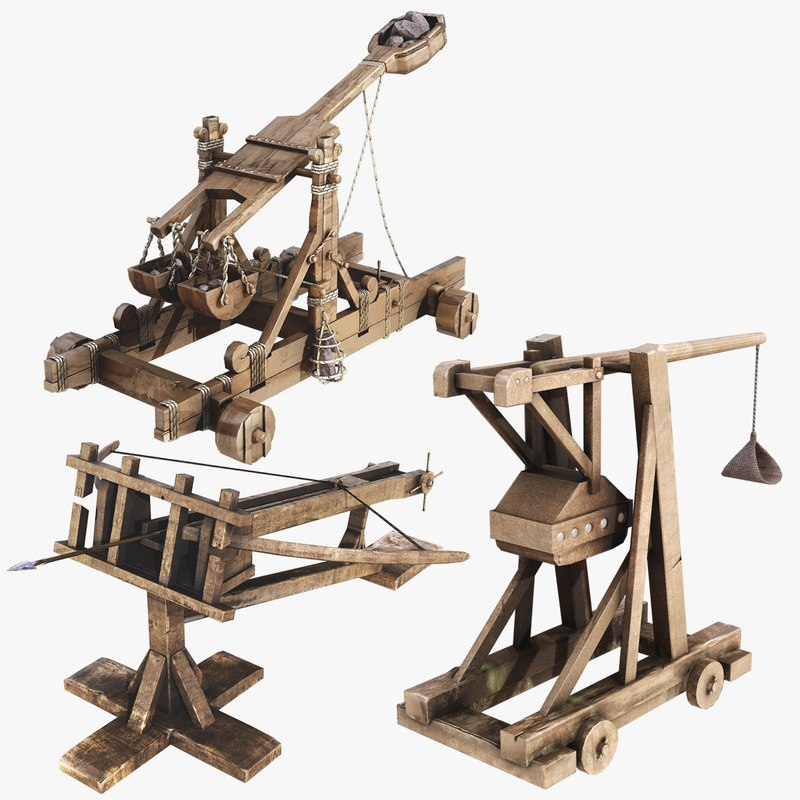 3D asset siege weapons model