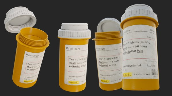 painkillers pbr pills 3D model