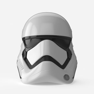 storm trooper helmet 3D