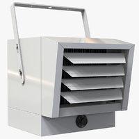 garage heater 3D model