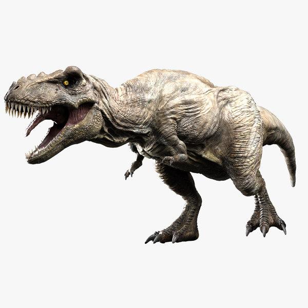 v-ray rigged rex 3D model