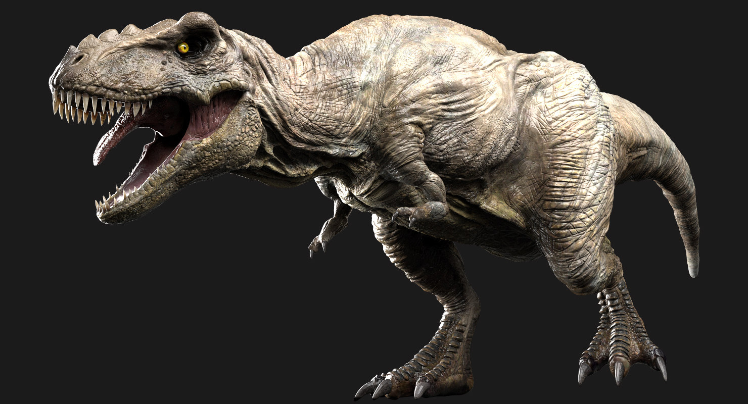 v-ray rigged rex 3D model