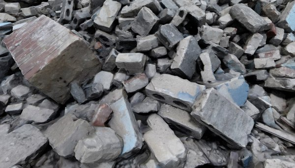 3D demolition site 1 debris