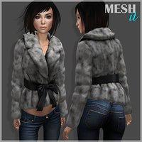 jacket fur belt 3D model