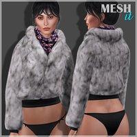 jacket fur scarf model