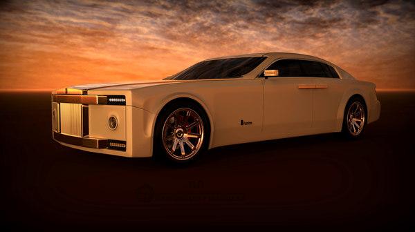 3D concept car luxury