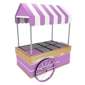 3D cart ice cream model