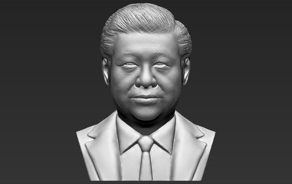 xi jinping bust ready 3D model