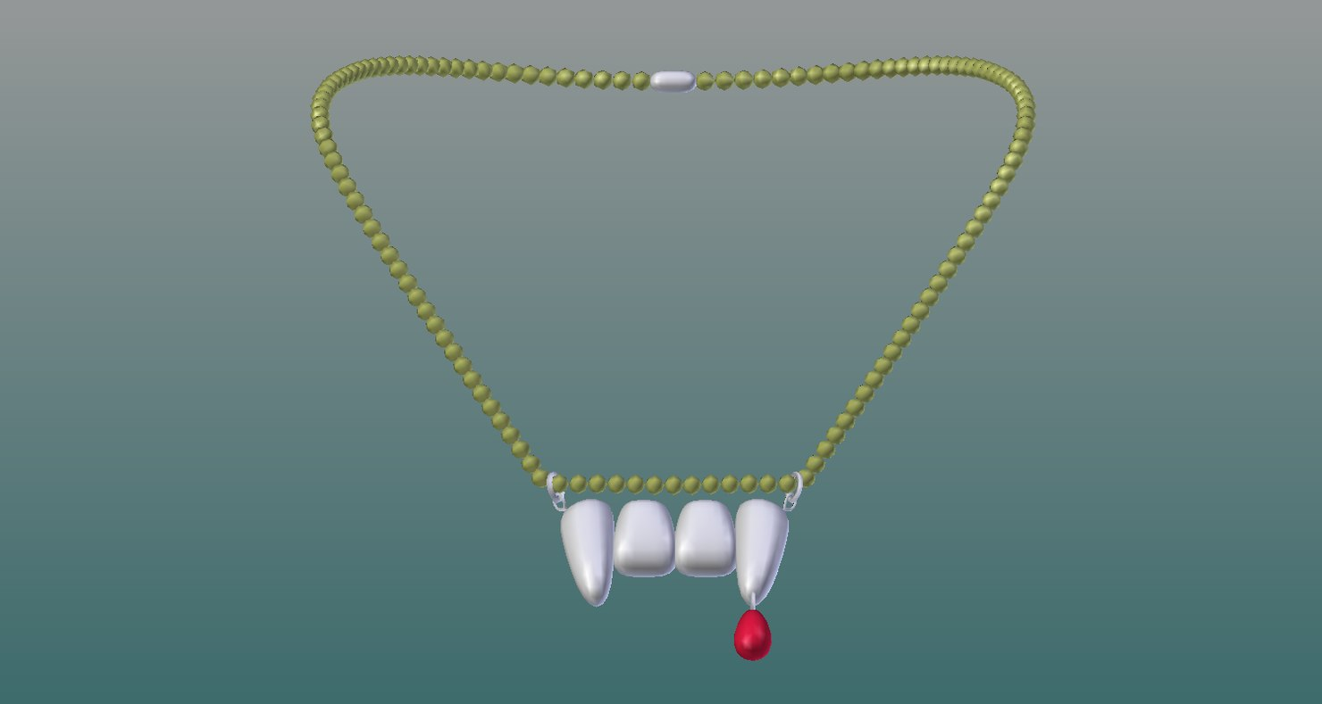 vamp necklace 3D model