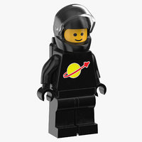 lego man astronaut 01 3D model