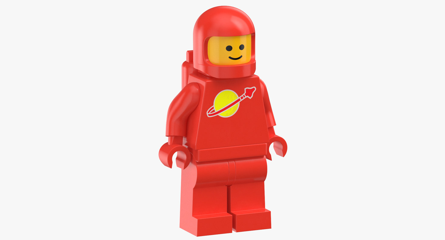 lego man astronaut 02 3D