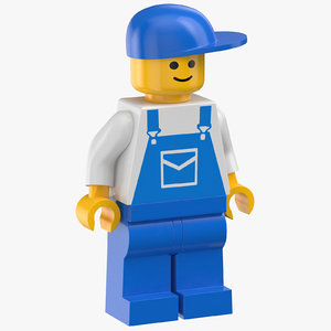 lego man mechanic 3D model