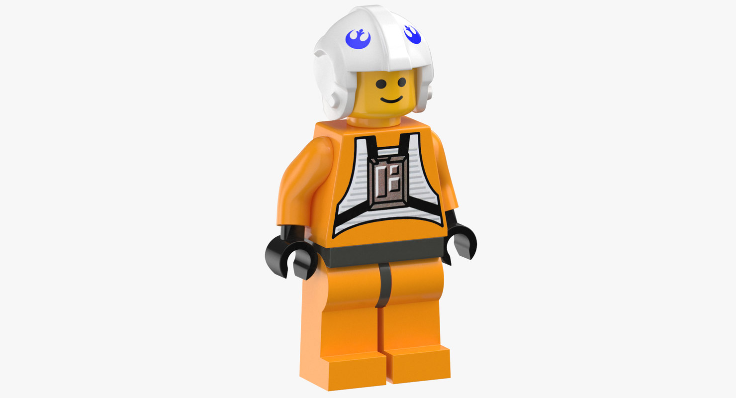 3D lego man star wars model
