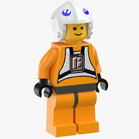 Lego Man Star Wars X Wing Rebel Pilot