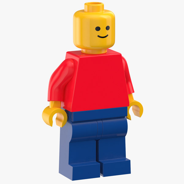 3D lego woman generic person