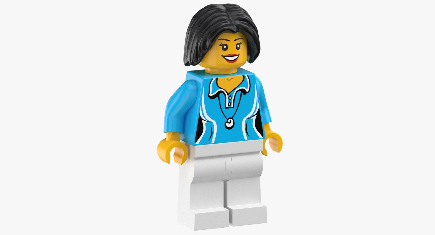 lego woman 01 3D