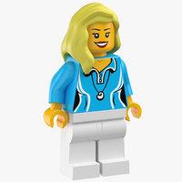 3D lego woman 02