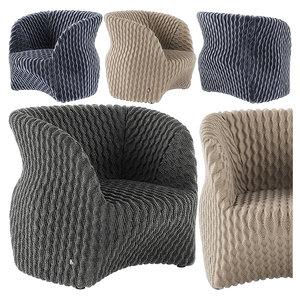 3D busnelli uma armchair model