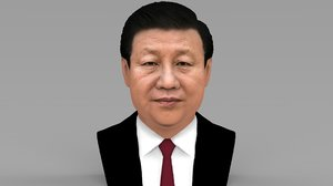 xi jinping bust ready 3D model