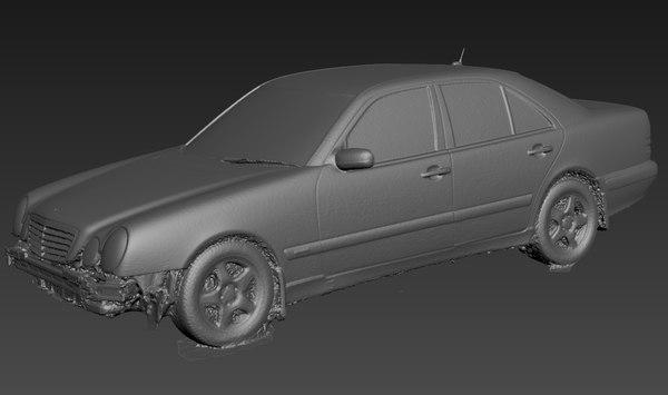 scan mercedes e-class w210 3D model