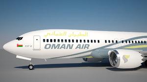 oman air boeing 737 model