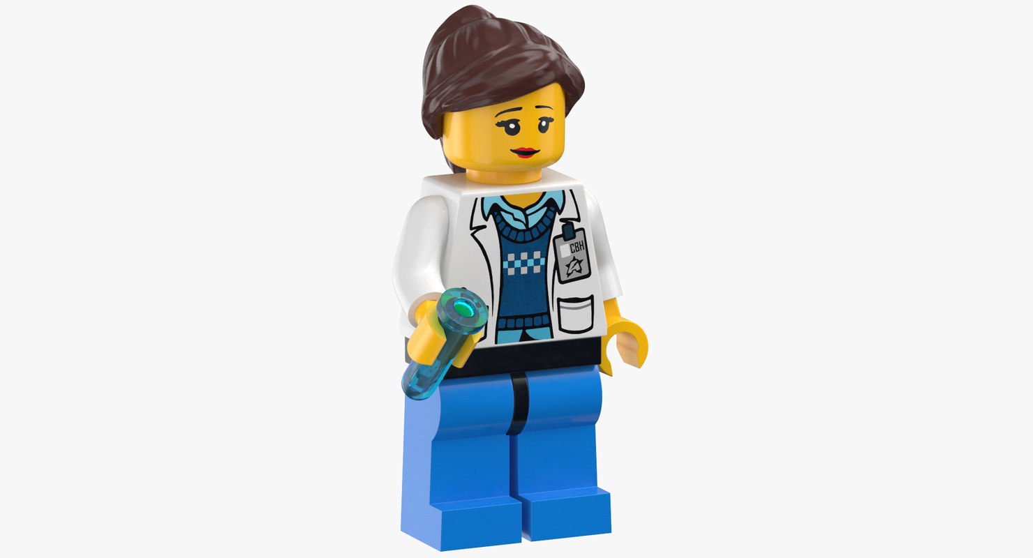 lego woman scientist model