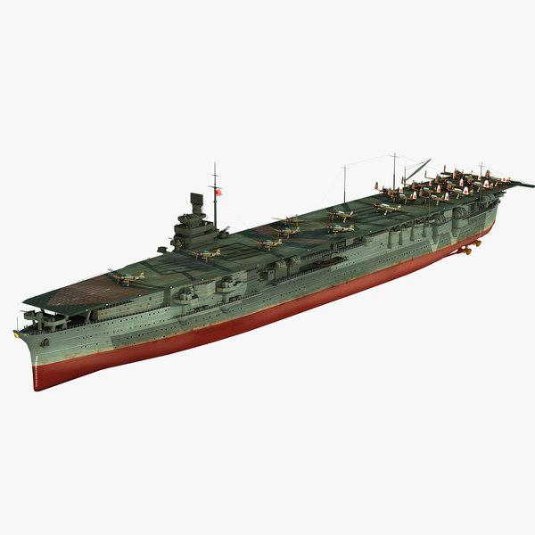 3D japanese aircraft carrier zuikaku model