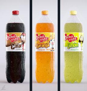 3D 2l plastic bottles -