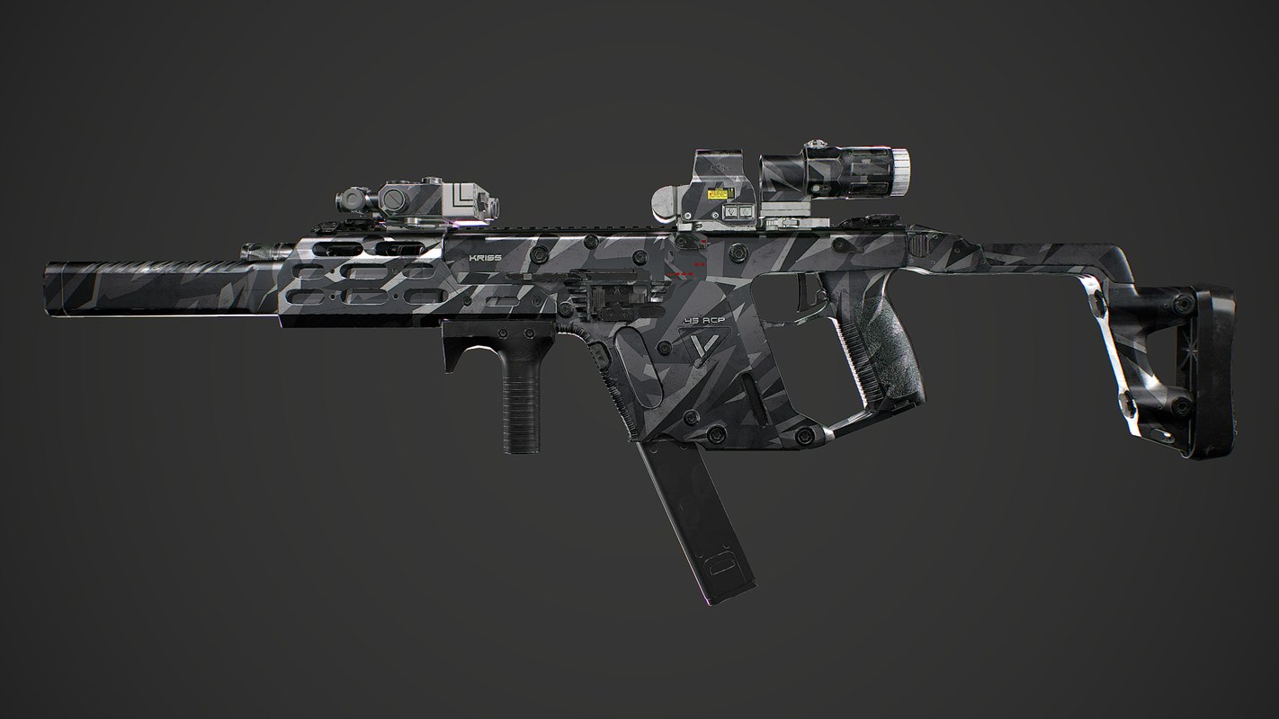 Kriss Vector gen2 camouflage Low-poly