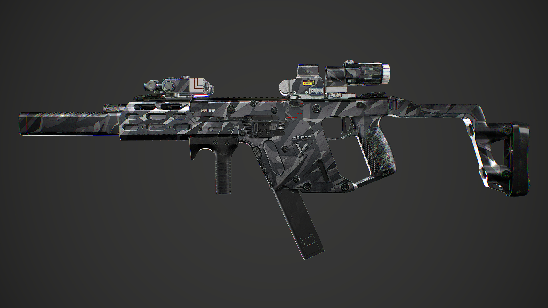 Kriss Vector Gen2 Camuflaje Low Poly