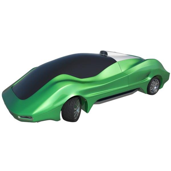 3D futuristic concept car model