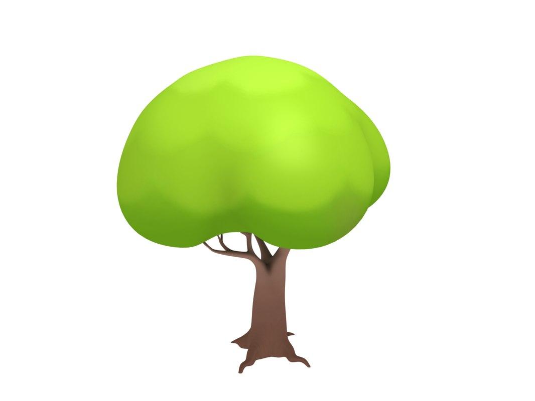 simple tree cartoon 3d max