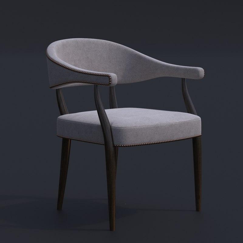 3D julian chichester armchair chair bar model