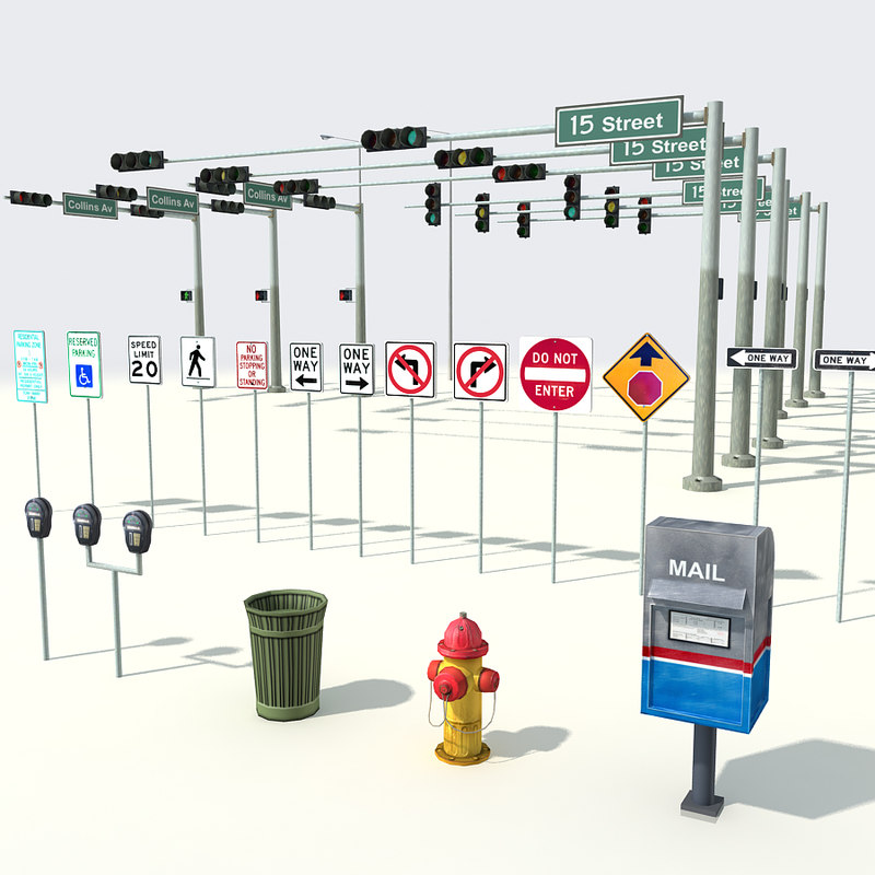 3ds max street elements