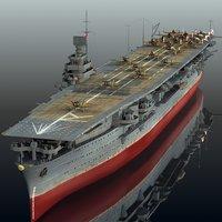 3D model japanese zuikaku 1942 pearl harbor