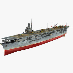 japanese aircraft carrier zuikaku 3D model