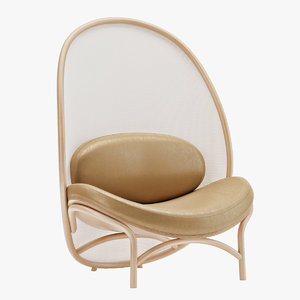 3D thonet chips lounge chair
