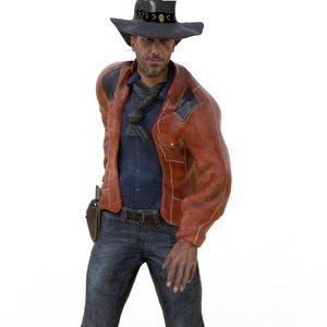 realistic cowboy model