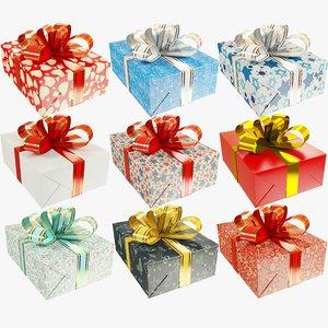 set gifts christmas present model