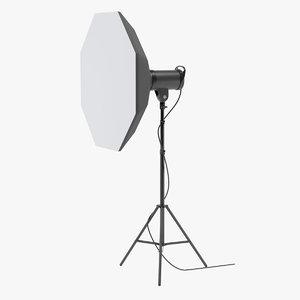 3D studio monolight octabox head