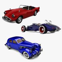 3d retro cars 14 model