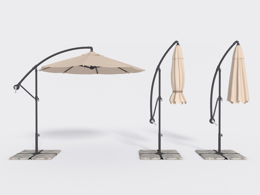 3d patio umbrella