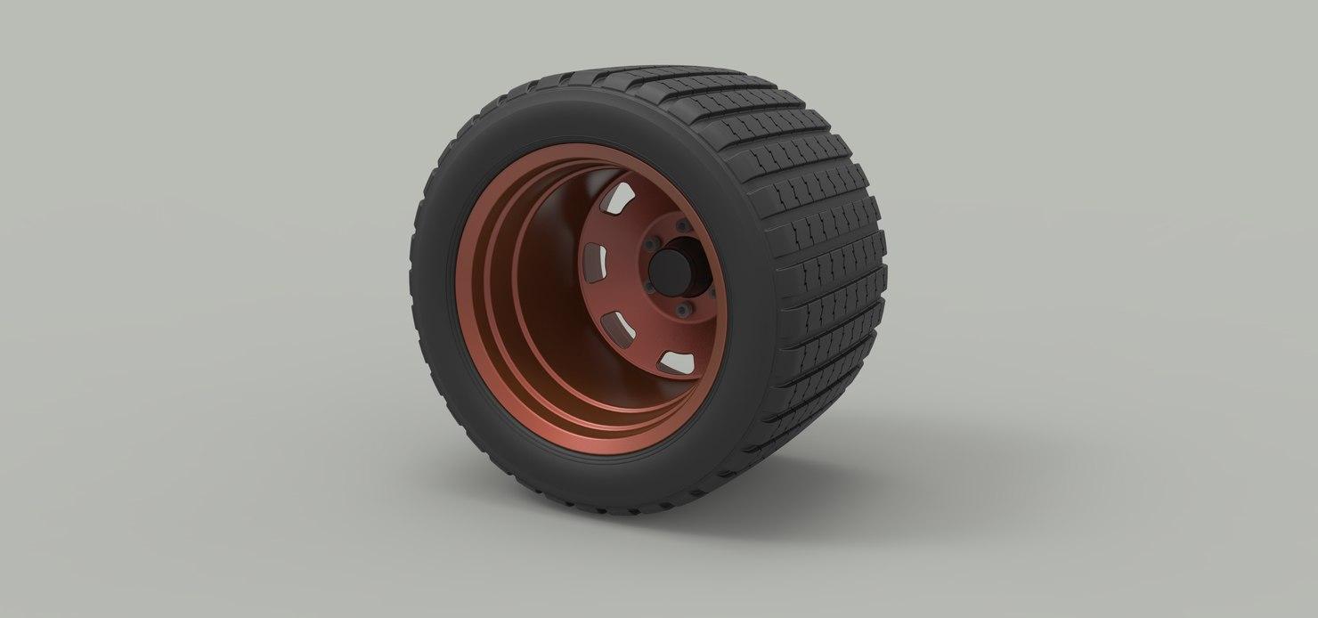 3D wheel offroad model